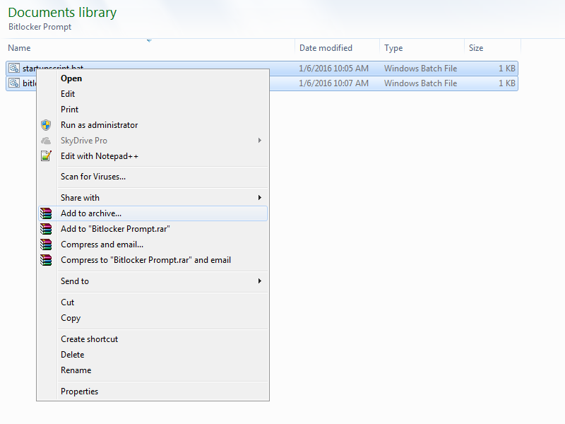 How to package your scripts with WinRAR
