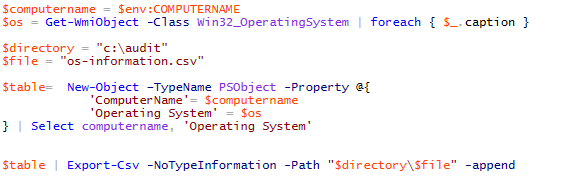Operating System Audit Script